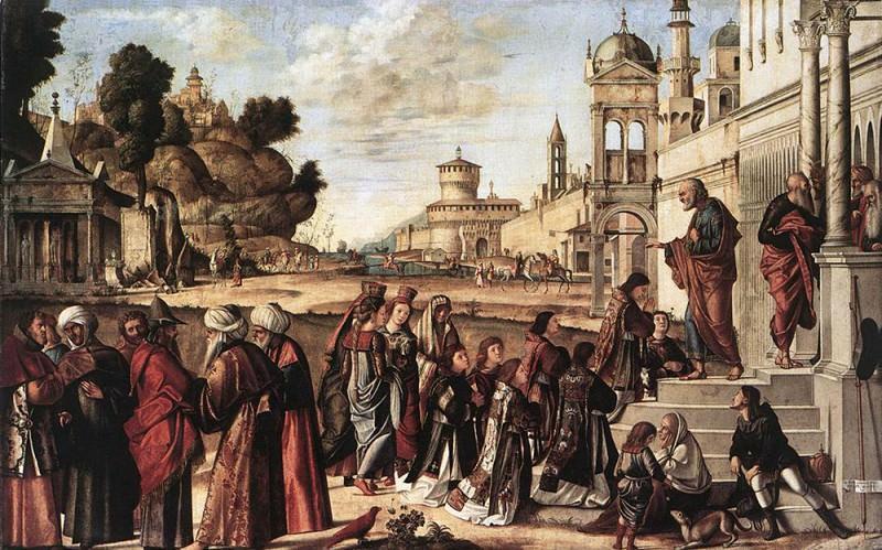 St Stephen is Consecrated Deacon. Vittore Carpaccio