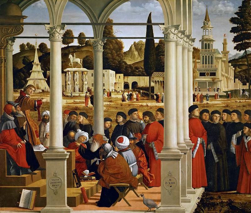 Disputation of St. Stephen. Vittore Carpaccio