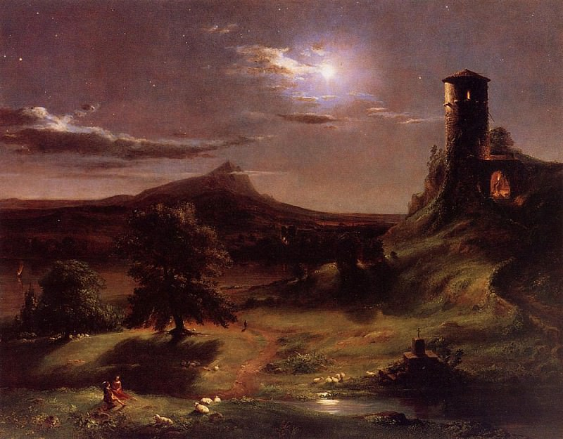 Moonlight. Thomas Cole