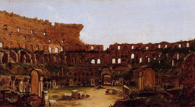 Interior of the Colosseum Rome. Thomas Cole
