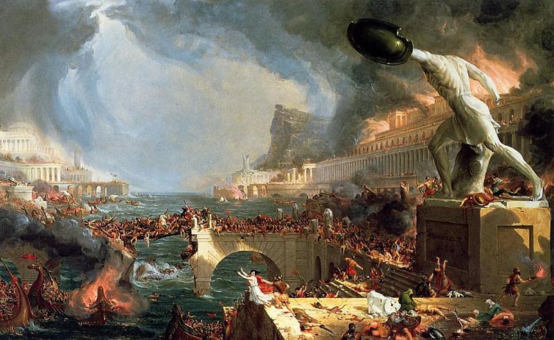 The Course of Empire Destruction. Thomas Cole