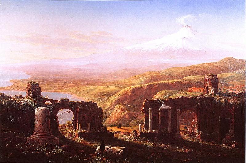 Mt Edna From Taormina 1844. Thomas Cole