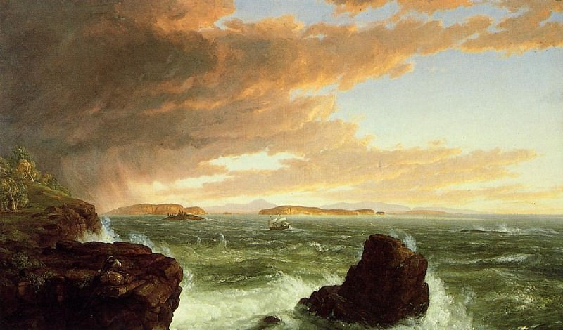 View Across Frenchman-s Bay from Mount Desert Island After a Squall. Thomas Cole