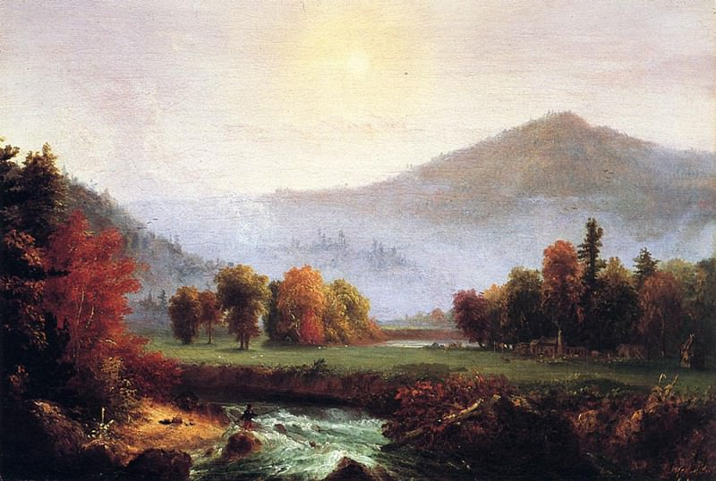 Morning Mist Rising Plymouth New Hampshire (A View in the United States of American i. Thomas Cole
