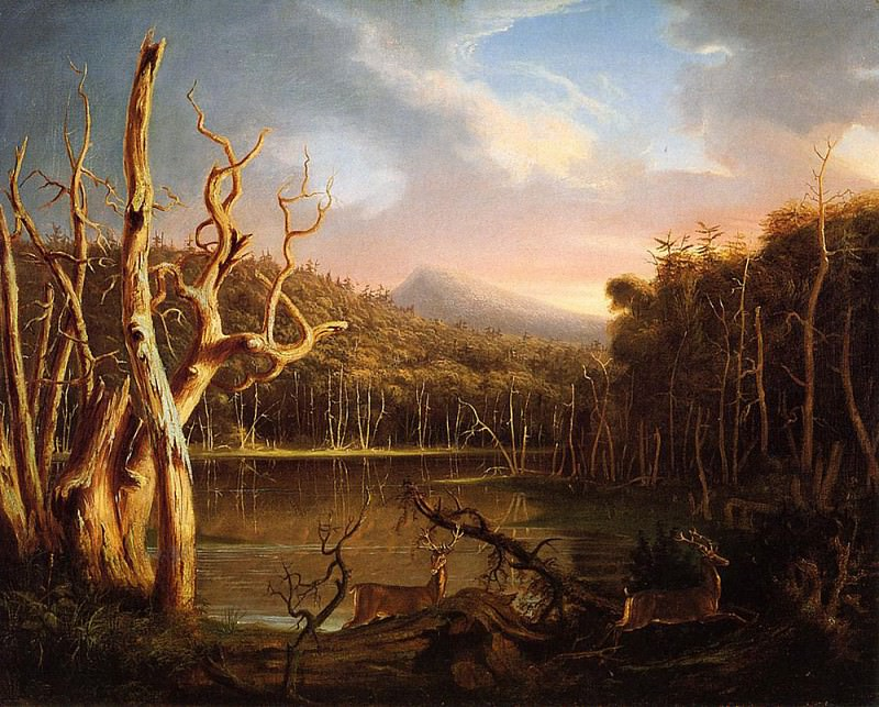 Lake with Dead Trees (Catskill) 1825. Thomas Cole