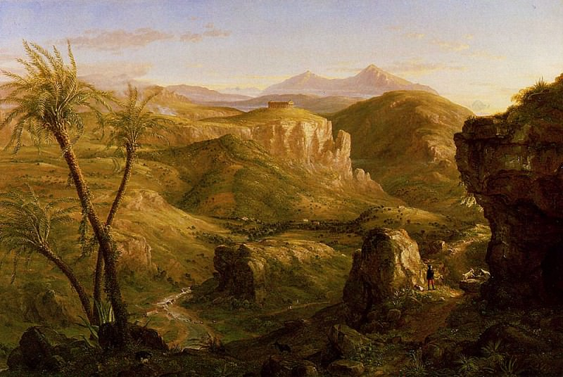 The Vale and Temple of Segesta Sicily. Thomas Cole