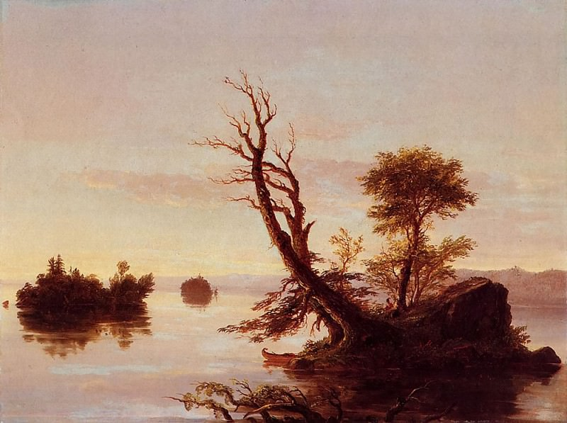American Lake Scene. Thomas Cole