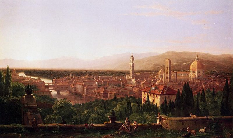 View of Florence from San Miniato. Thomas Cole