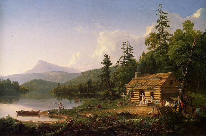 Home in the Woods. Thomas Cole