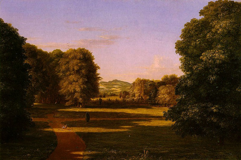 The Gardens of the Van Rensselaer Manor House. Thomas Cole