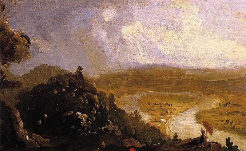 Sketch for -View from Mount Holyoke Northampton Massachusetts after a Thunderstorm-. Thomas Cole