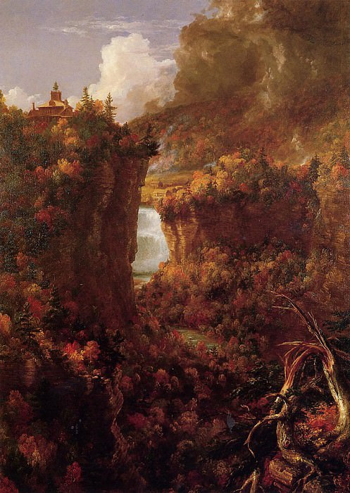 Portage Falls on the Genesee. Thomas Cole