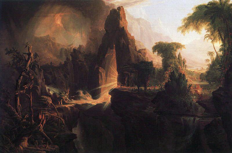 Expulsion from the Garden of Eden. Thomas Cole
