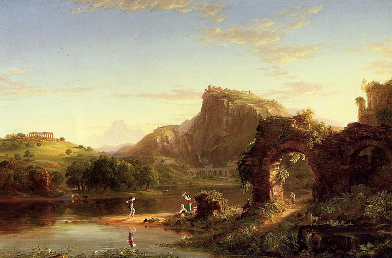 L-Allegro (Italian Sunset). Thomas Cole