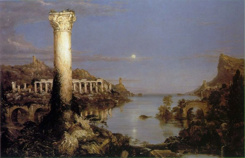The Course of Empire Desolation. Thomas Cole