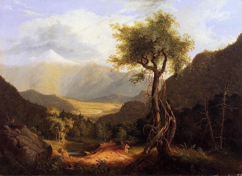 View in the White Mountains 1827. Thomas Cole
