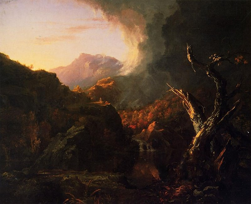 Landscape with Dead Tree. Thomas Cole