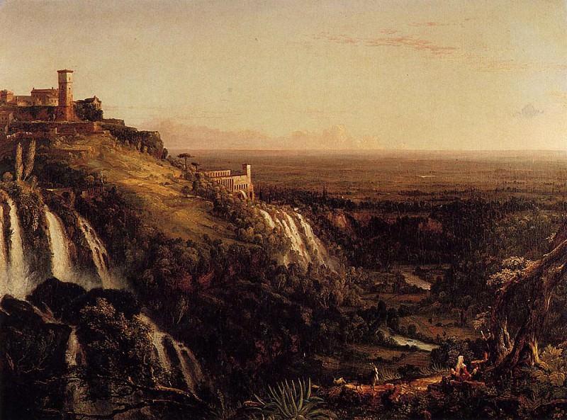 Водопады на стороне Тиволи, обращенной к Риму. Томас Коул