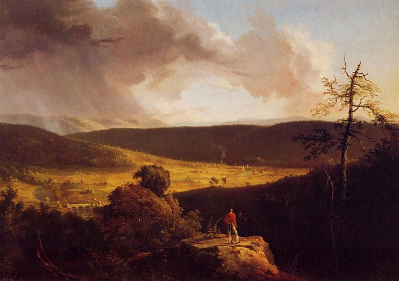 View of L-Esperance on the Schoharie River. Thomas Cole