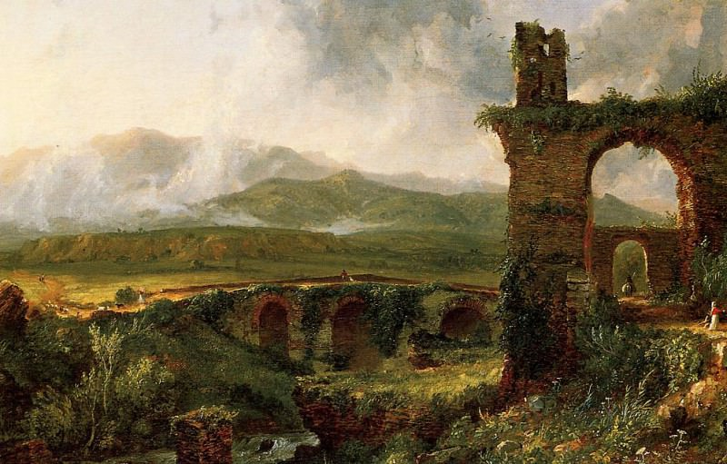 A View near Tivoli (Morning). Thomas Cole