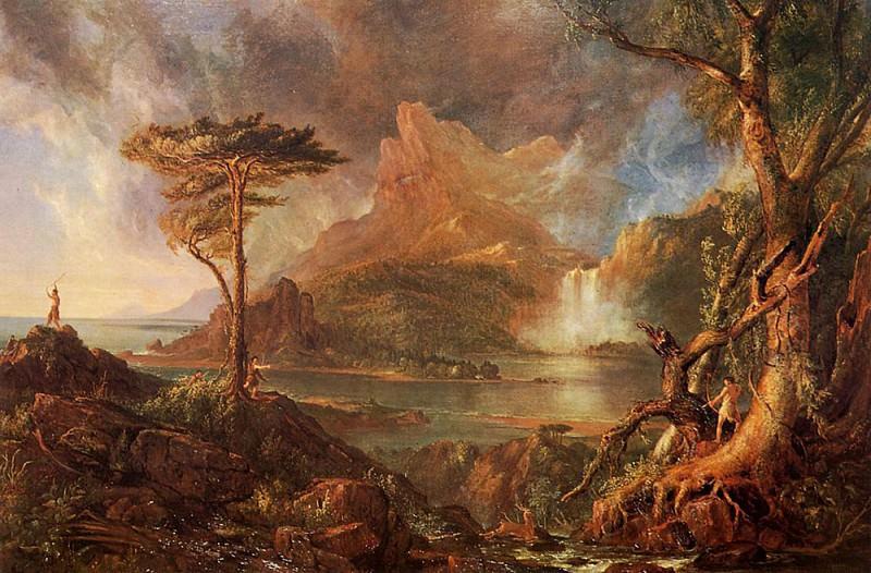A Wild Scene. Thomas Cole