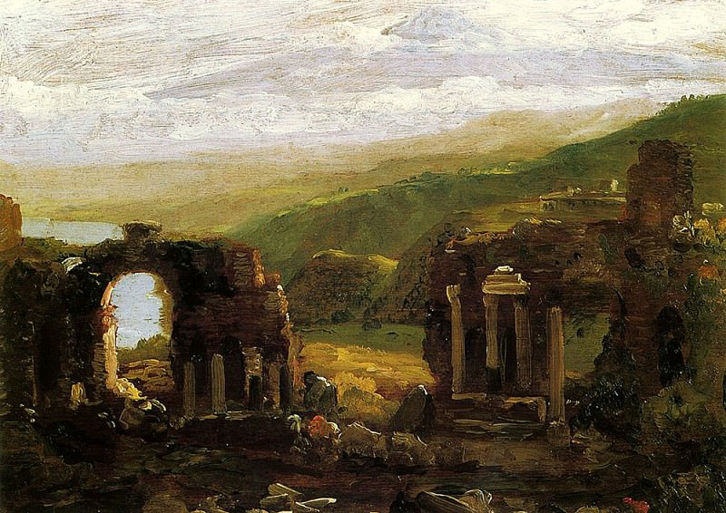 The Ruins of Taormina (sketch). Thomas Cole