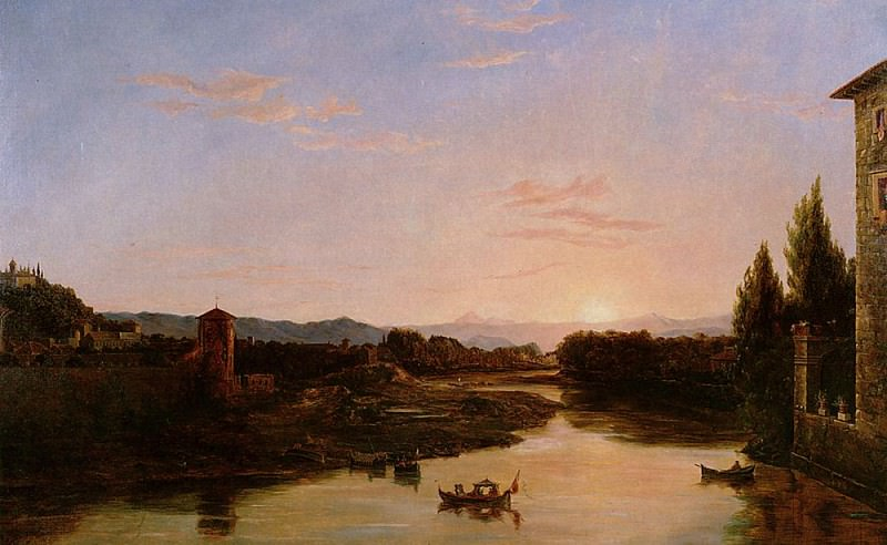 Sunset of the Arno. Thomas Cole