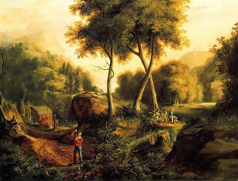 Landscape 1825. Thomas Cole