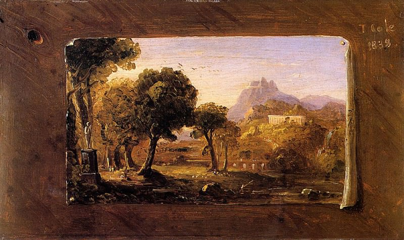 Study for -Dream of Arcadia-. Thomas Cole