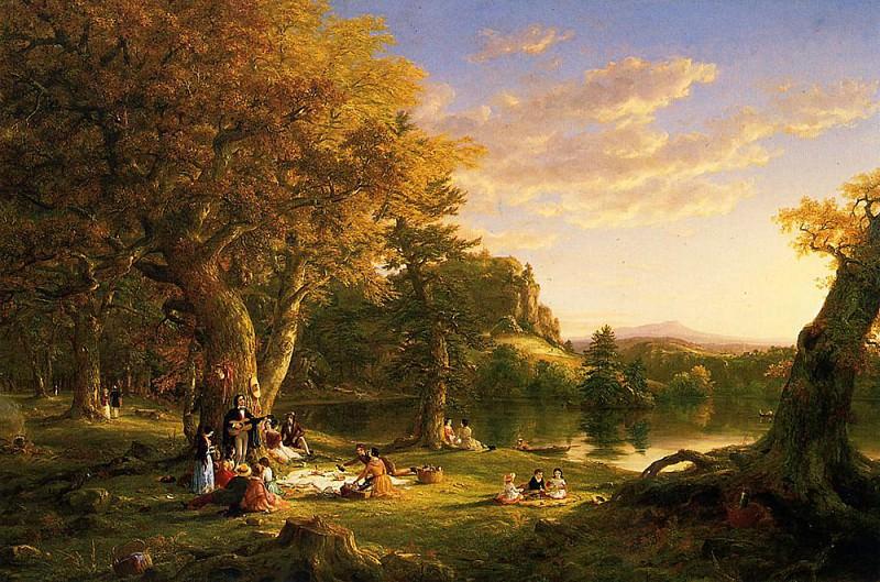 The Picnic. Thomas Cole