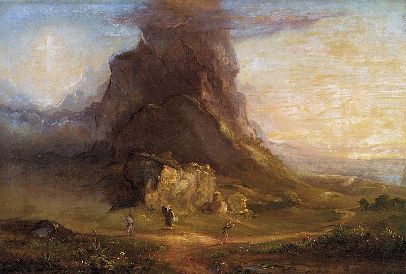 The Cross and the World Study. Thomas Cole