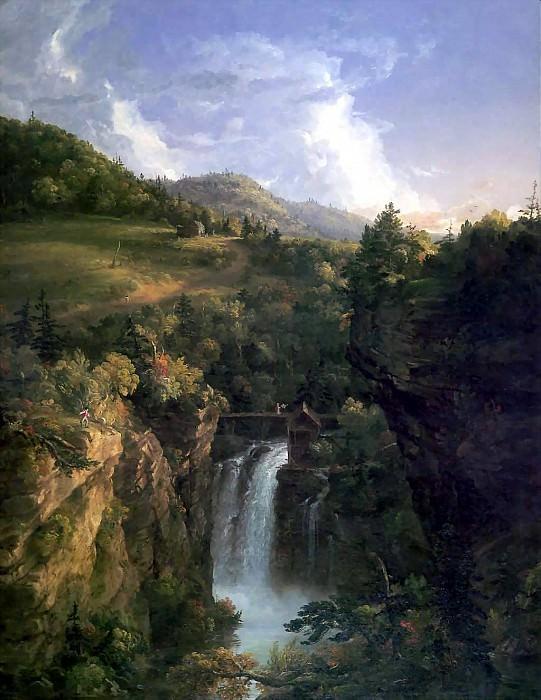 Река Гудзон, водопад Дженеси, 1847. Томас Коул