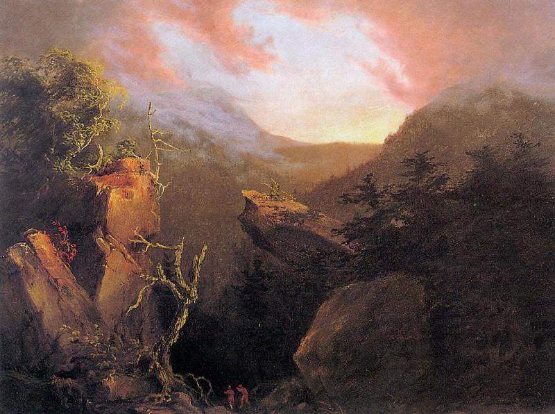 Восход в горах Кэтскилл. Томас Коул