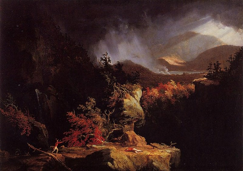 Gelyna (View near Ticonderoga). Thomas Cole