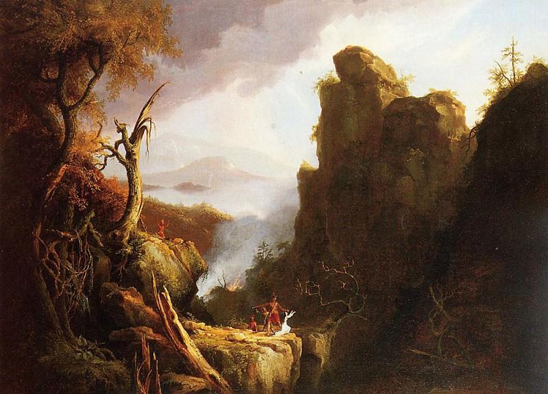 Indian Sacrifice 1826. Thomas Cole