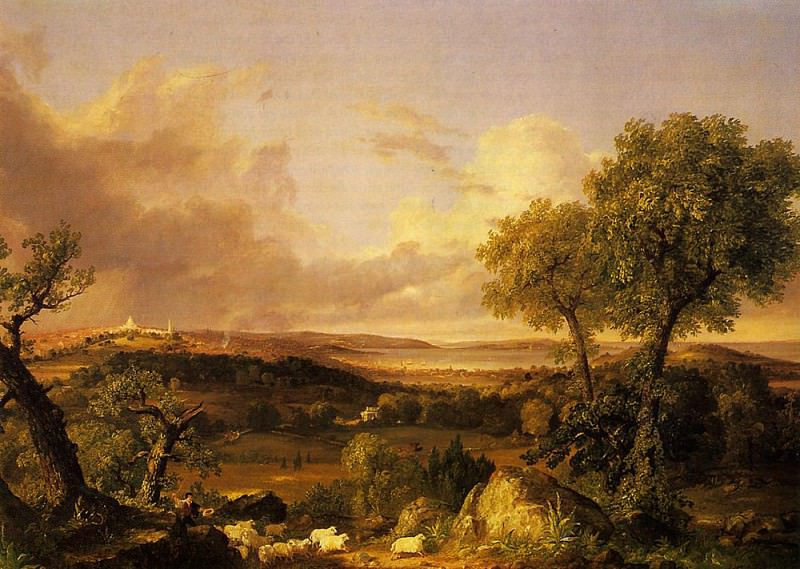 View of Boston. Thomas Cole