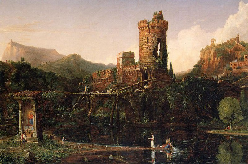 Landscape Composition Italian Scenery. Thomas Cole