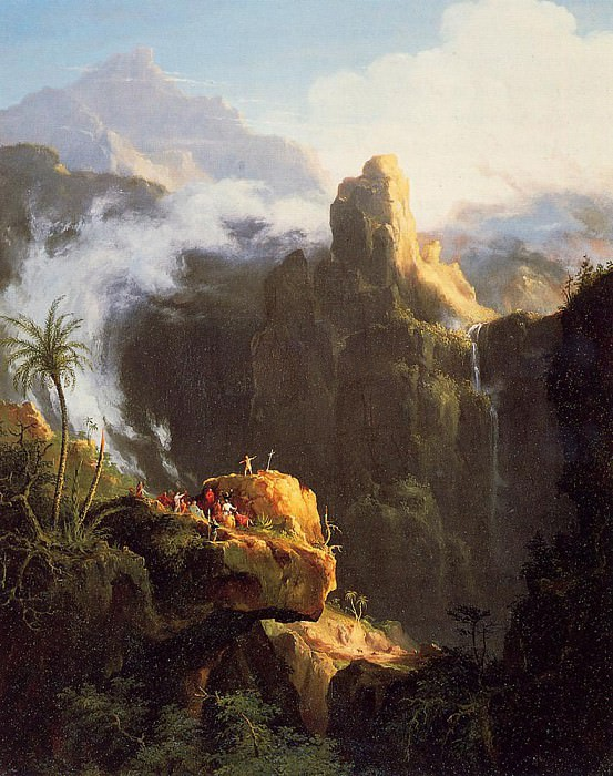 Landscape Composition Saint John in the Wilderness. Thomas Cole