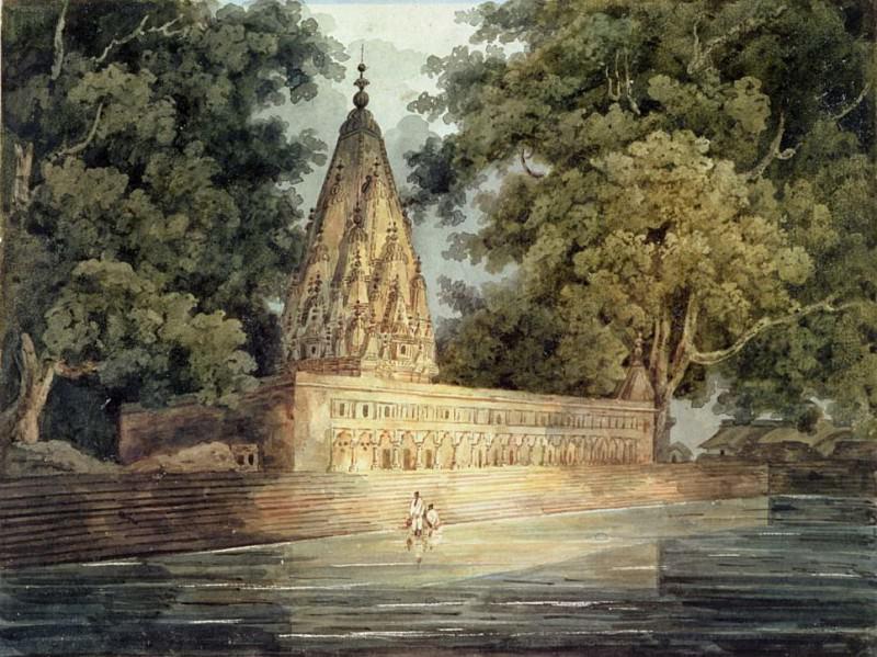 Hindu Temple near Benares. George Chinnery