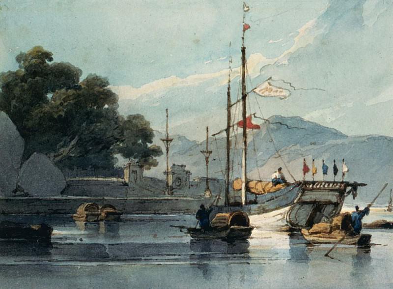 Навигация на китайской реке. Джордж Чиннери