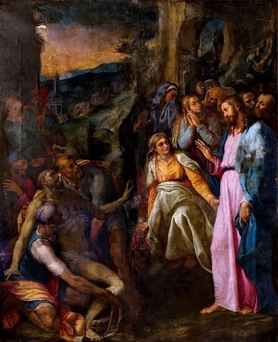 Воскрешение Лазаря. Джироламо Муциано
