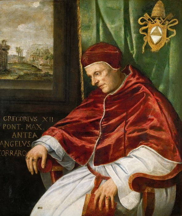 Portrait of Gregory XII. Giovanni Girolamo Muziano