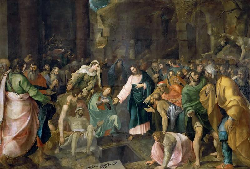 Raising of Lazarus. Giovanni Girolamo Muziano
