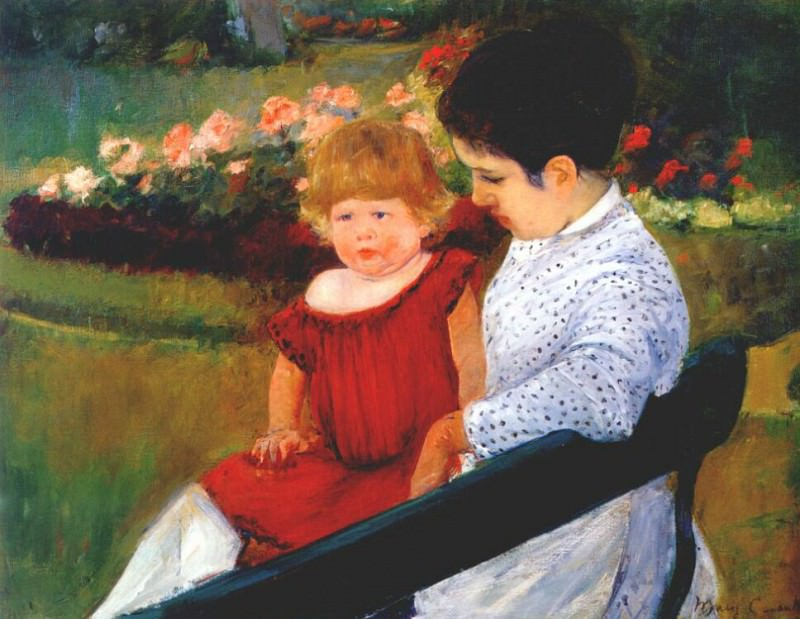 in the park c1894. Mary Cassatt