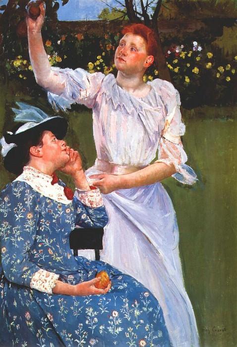 Молодые женщины, срывающие фрукты, 1891-2. Мэри Кассат
