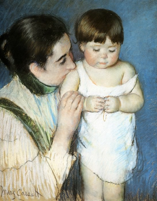 Young Thomas And His Mother. Mary Cassatt