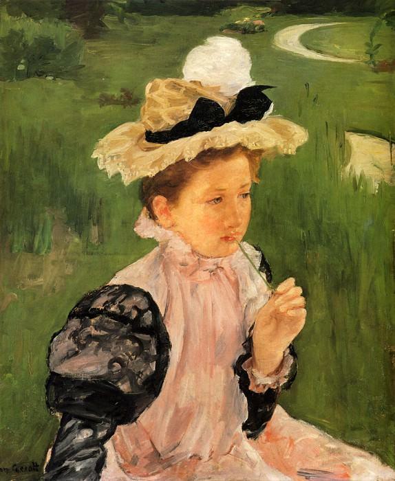 Portrait Of A Young Girl. Mary Cassatt