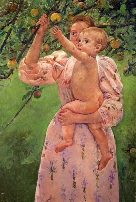 Малышка тянется за яблоком. Мэри Кассат