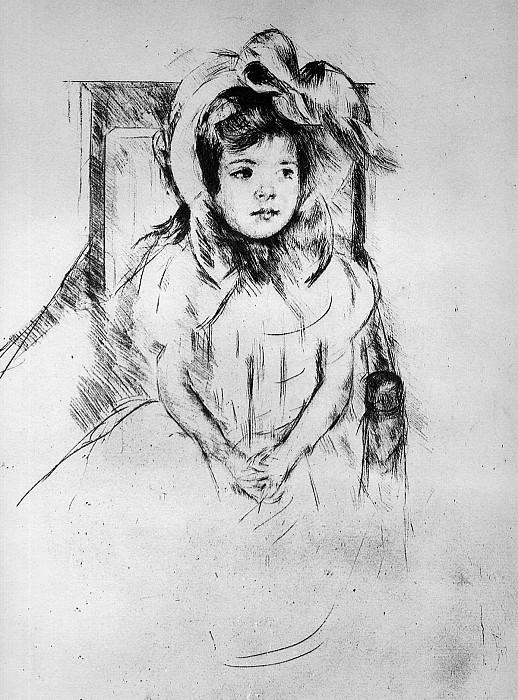 Маленькая девочка в шапке. Мэри Кассат