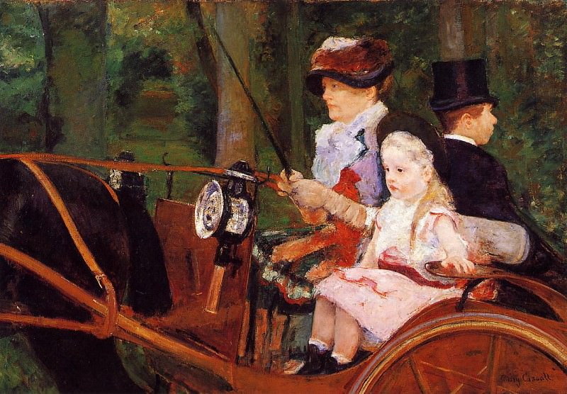 Woman and Child Driving. Mary Cassatt